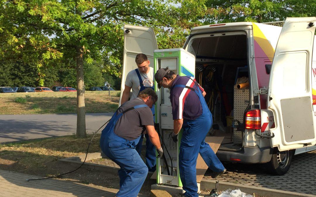 Fünfte Ladesäule für Elektroautos in Bitterfeld-Wolfen